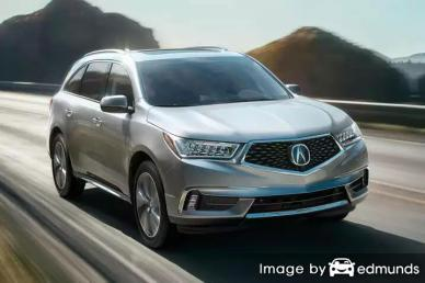 Insurance rates Acura MDX in Raleigh