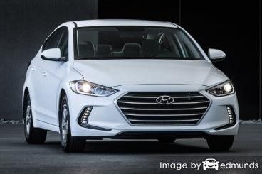 Insurance quote for Hyundai Elantra in Raleigh