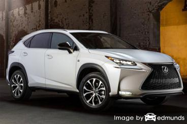 Insurance rates Lexus NX 200t in Raleigh