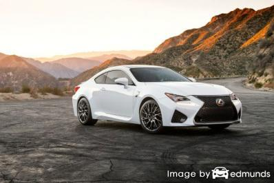 Insurance rates Lexus RC F in Raleigh